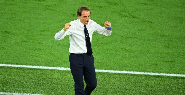 Mancini trots na sterke start Italië: 'Hoop op meer van dit soort avonden'