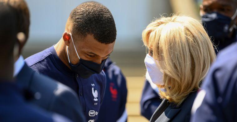 Mbappé probeerde Giroud-relletje op te lossen, maar lijkt daar niet in te slagen