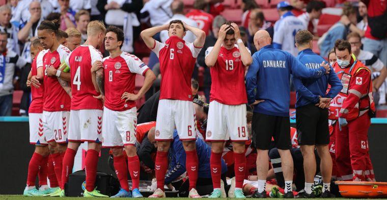 Deense spits Braithwaite hekelt Eriksen-statement van UEFA: 'Niet ons verzoek'