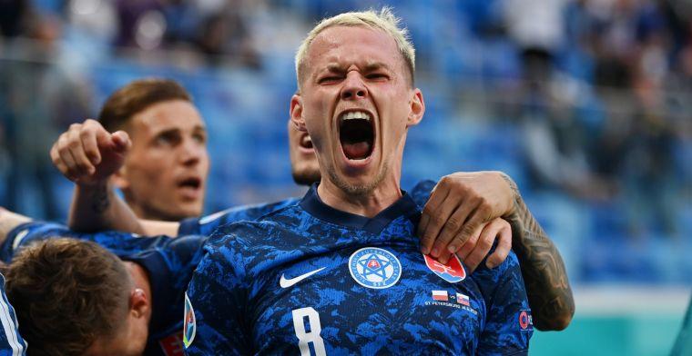 Slowakije zorgt voor stuntje op EK door Polen en Lewandowski te kloppen