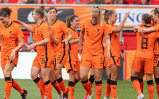 Afbeelding: Oranje Leeuwinnen laten geen spaan heel van Noorwegen en maken er zeven