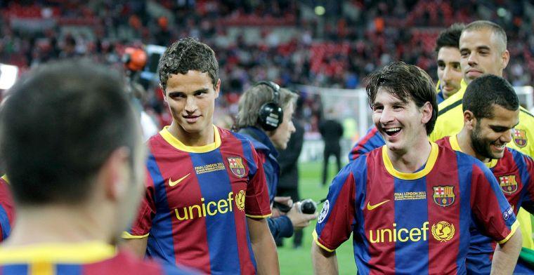 Afellay: 'Ik kreeg de maaltijden niet door mijn keel, Messi moest vaak overgeven'