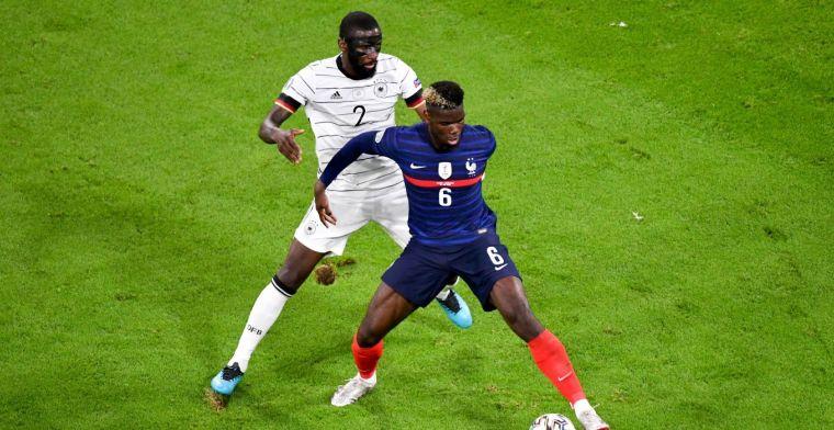 Opmerkelijk incident Pogba en Rüdiger: 'Ik wil niet dat hij geschorst wordt'
