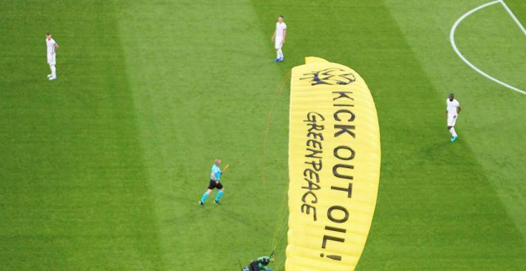 Greenpeace-protest gaat mis: UEFA meldt gewonden door 'roekeloze actie'