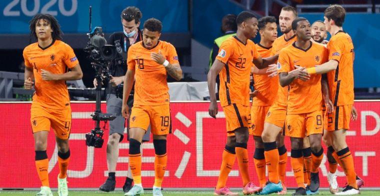 Oranje verslaat Oostenrijk en heeft groepswinst al binnen, weer hoofdrol Dumfries