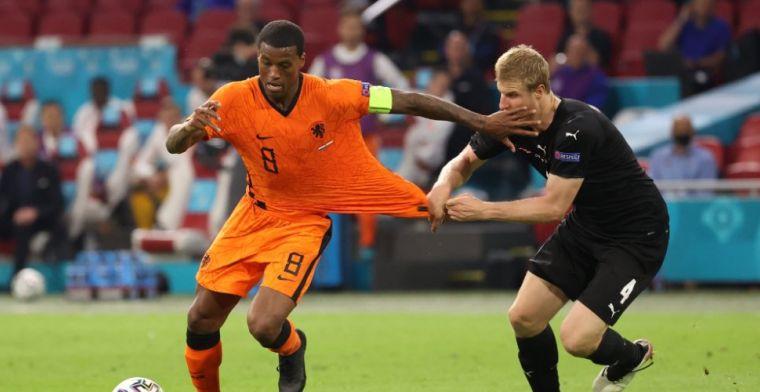Wijnaldum en Memphis dollen na Oranje-winst: 'Volgens mij sprak hij Spaans'