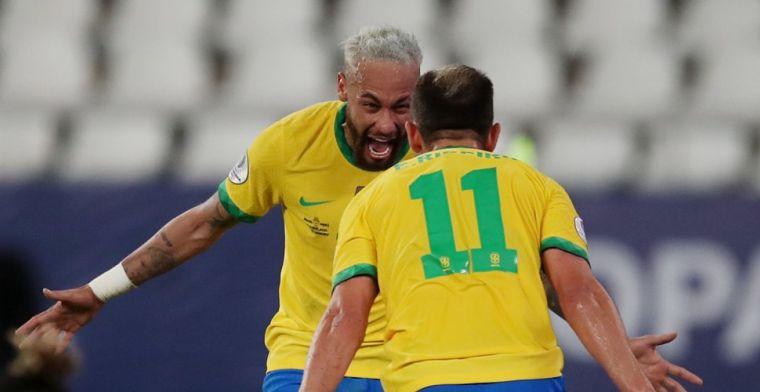 Uitblinker Neymar emotioneel na ruime zege Brazilië: 'Veel meegemaakt'