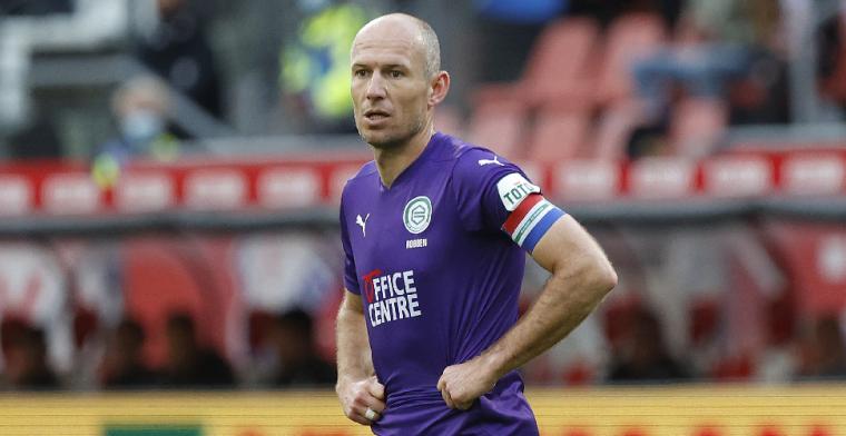 Robben voedt geruchten en speelt mee met FC Groningen O18