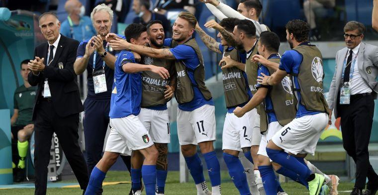 Onpasseerbaar Italië met Wales naar achtste finales EK, Zwitserland in wachtkamer