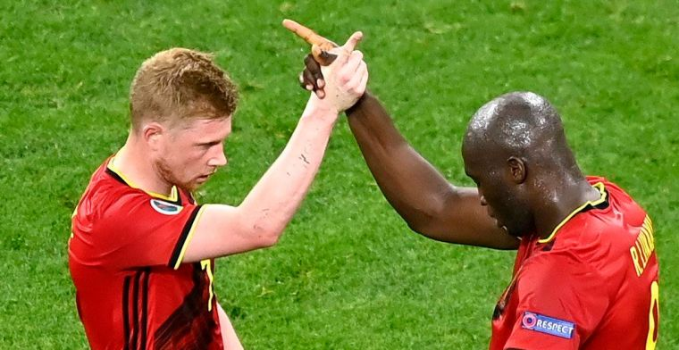 Lukaku en De Bruyne doen iconische viering nog eens over