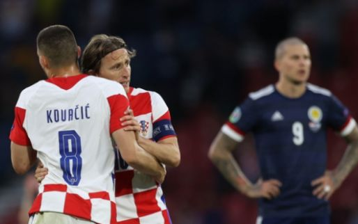 Afbeelding: Kroatië klopt dappere Schotten en bewijst Oranje daarmee goede dienst