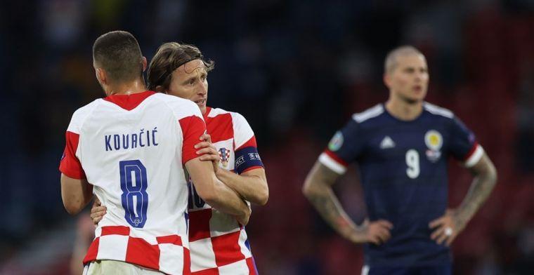 Kroatië klopt dappere Schotten en bewijst Oranje daarmee goede dienst