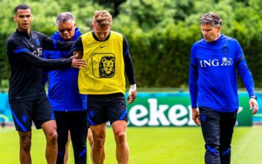 Slecht nieuws voor De Jong: EK met Oranje zit er al op door knieblessure