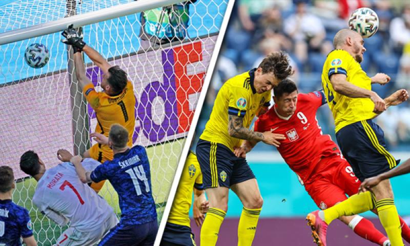 Afbeelding: Zweden boven ontketend Spanje, ondanks Poolse comeback: Slowakije en Polen klaar