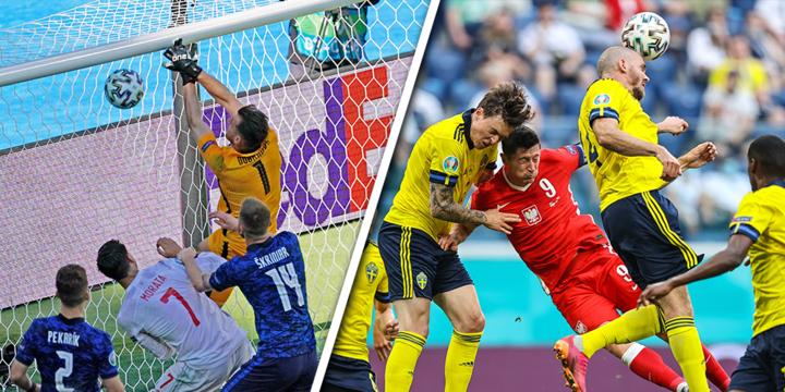 Zweden boven ontketend Spanje, ondanks Poolse comeback: Slowakije en Polen klaar
