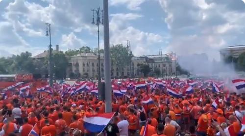 Prachtige beelden, Oranje-fans gaan los in Boedapest: 'Voelt als Bevrijdingsdag'