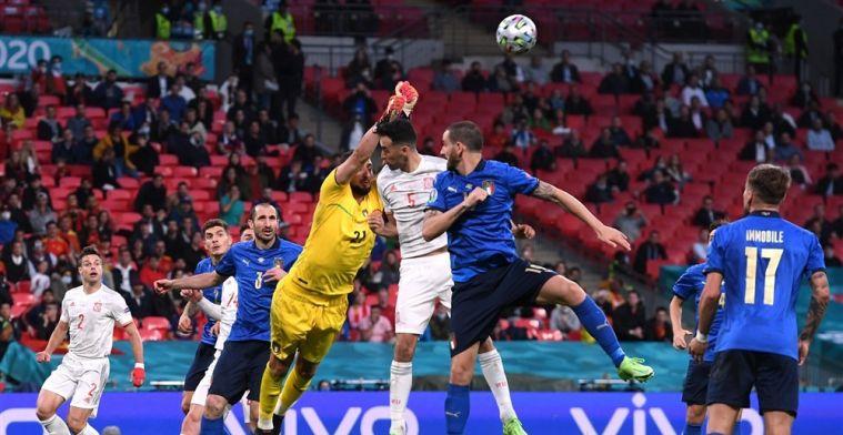 Italië neemt strafschoppen beter dan Spanje en is eerste EK-finalist