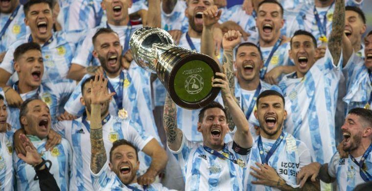 Weinig Argentijnen in het Copa America-team van het toernooi