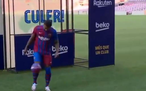 'In de voetsporen van Johan': Barça pakt groots uit met presentatie Memphis
