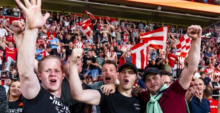 Ook uitfans keren weer terug: PSV mag met honderden fans naar Amsterdam