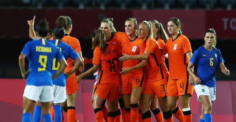Oranje Leeuwinnen spelen in nieuw doelpuntenfestijn gelijk tegen Brazilië