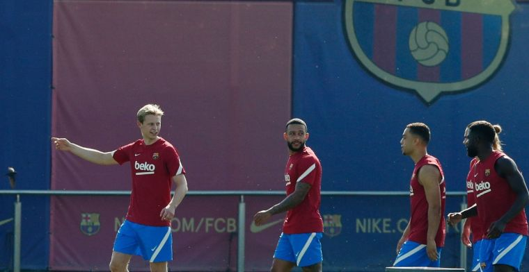 Koeman posteert Memphis en De Jong op Barça-bank voor oefenduel, Dest in basis