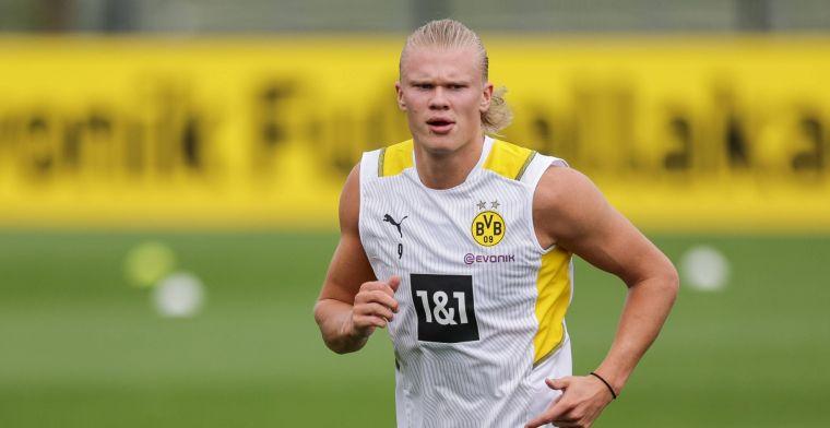 Haaland verbaasd door 'vraagprijs' Dortmund: 'Heel veel geld voor één persoon'