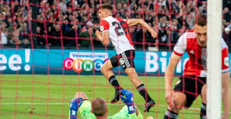 Feyenoord ontsnapt aan blamage door drie doelpunten van Til tegen Drita