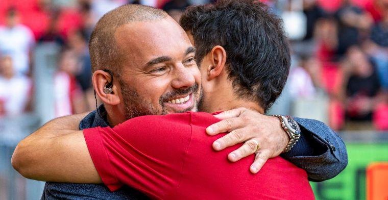 Sneijder lokt geprikkelde reactie Elia uit: 'Daar heb ik helemaal schijt aan'