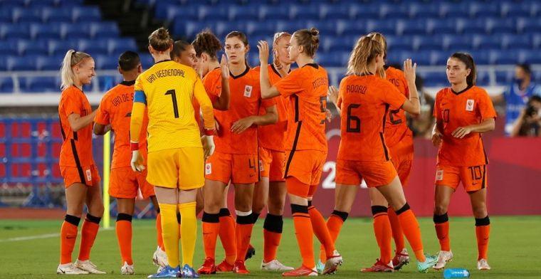 Spelersrapport: Oranjevrouwen gaan als collectief ten onder