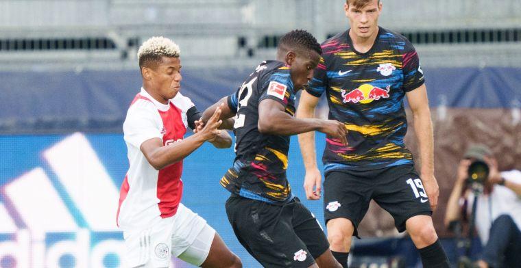 Ajax valt terug na bliksemstart tegen RB Leipzig: weer remise tegen Duitse topclub