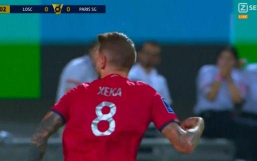 GOAL: Lille en David op voorsprong tegen PSG na fenomenale kanonskogel Xeka