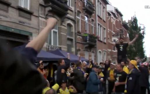 De sfeer is goed, fans vieren de terugkeer van Dudenpark in Eerste Klasse