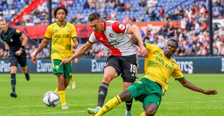 Feyenoord na 120 minuten voetbal in De Kuip niet voorbij ADO Den Haag
