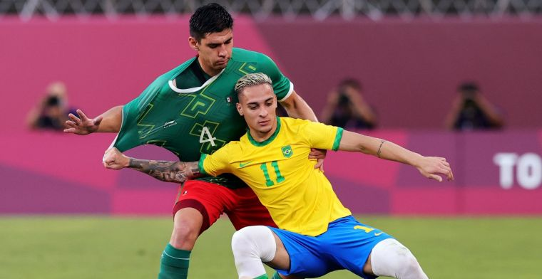 Brazilië benut alle strafschoppen: Ajax-aanvaller Antony naar Olympische finale
