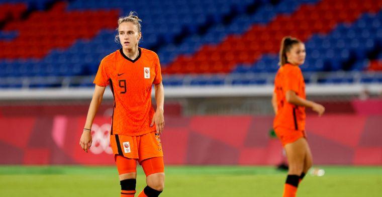 Miedema treurt na Oranje-uitschakeling: 'Dat hoorde ik vlak voor de penaltyserie'