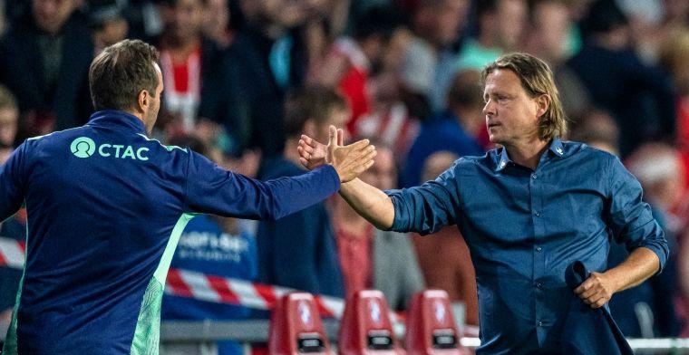 Midtjylland 'trots' na nederlaag: 'Spelen gelukkig niet wekelijks tegen PSV'