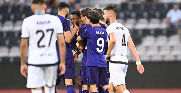 Anderlecht kent perfecte comeback in Europa en wint vlot van FK Laçi