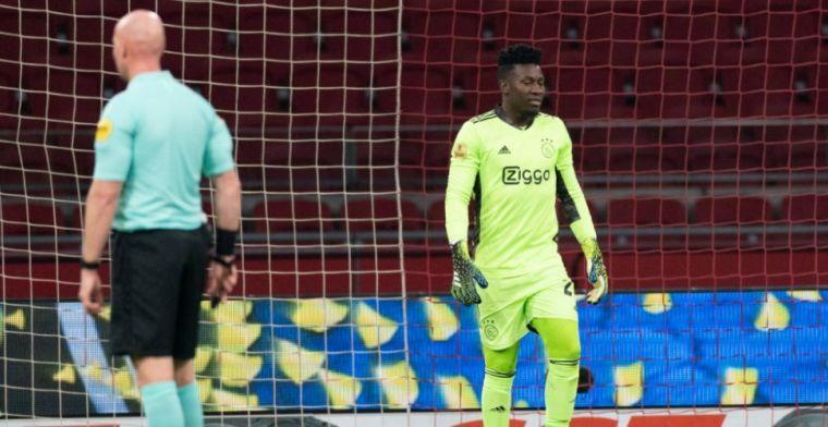 Onana klimt in de pen na training bij Ajax: 'Maakt niet uit wat anderen denken'