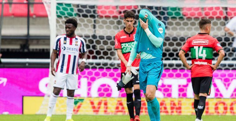 NEC laat derde zege liggen: uitblinkende debutant houdt tiental Willem II overeind