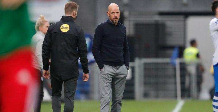 Ten Hag over '10-positie' bij Ajax: 'Hij weet vaak iets goeds te doen met de bal'