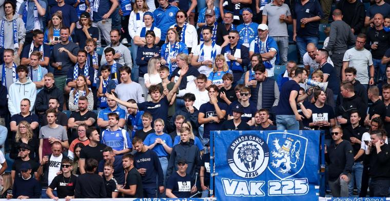 KAA Gent en KRC Genk weten op hoeveel fans ze kunnen rekenen in Europa