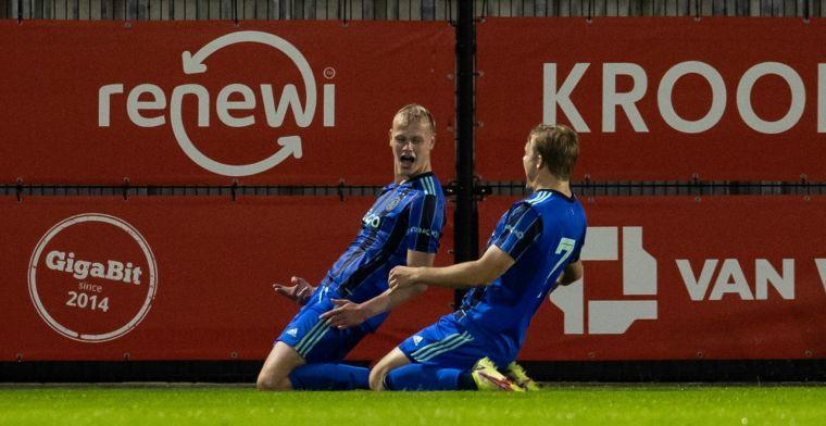 'Vind Haller echt een fenomeen, daar kijk je als spits van Jong Ajax wel tegenop'