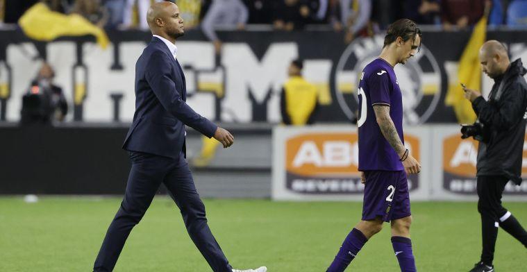 Kompany over onervarenheid in klassieker tegen Standard: 'Kijk naar Club Brugge'