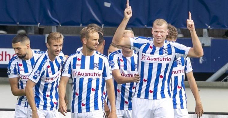 Veerman en Veerman slaan na vijf minuten toe, Heerenveen blijft in Eredivisie-top