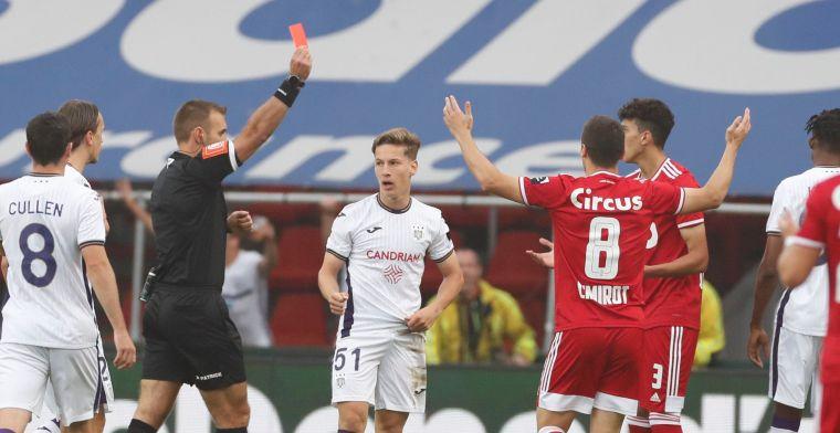 Standard na zeven minuten met man minder tegen Anderlecht: 'Rood is rood'