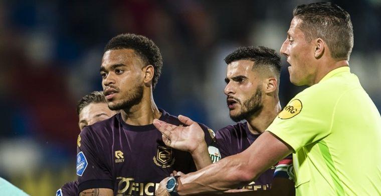 Ngonge (FC Groningen) krijgt ná laatste fluitsignaal rood, maar ontsnapt aan straf