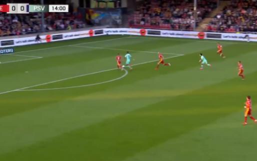 Heerlijk passje Zahavi, knap afgemaakt door Gakpo: uitstekende goal van PSV