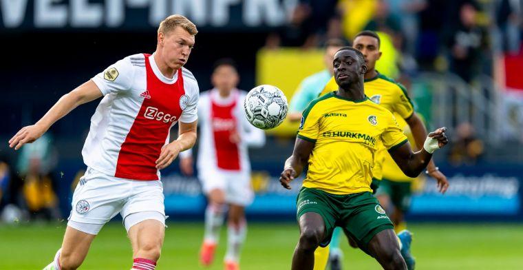 'Ik ben positief over ontwikkeling maar weet dat concurrentie bij Ajax groot is'