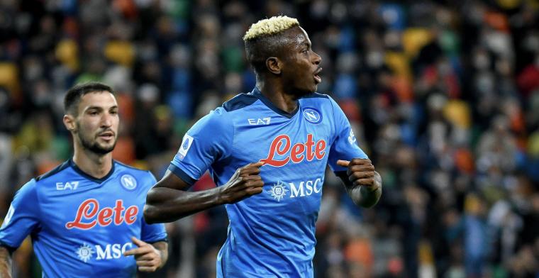 Osimhen (ex-Charleroi) leidt Napoli naar leidersplaats in Serie A